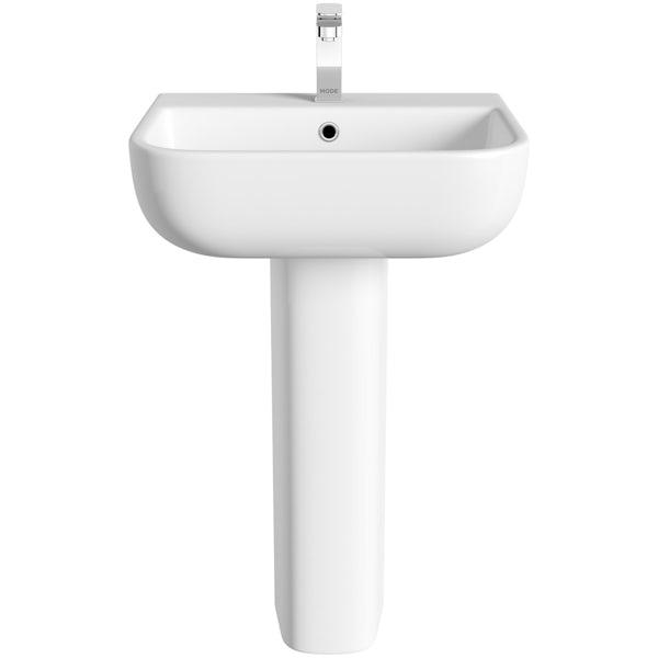 RAK Series 600 full pedestal basin with 1 tap hole 520mm