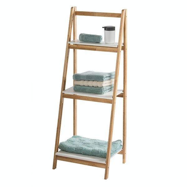 Showerdrape Amora three tier ladder shelf