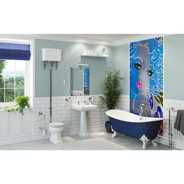 Louise Dear Coo..ee! Navy Blue bathroom suite with freestanding bath