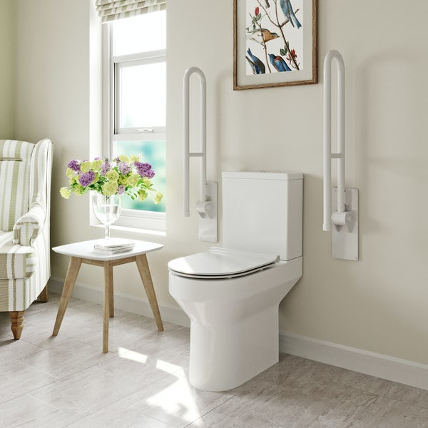 Orchard Wharfe comfort height close coupled toilet with soft close slim seat