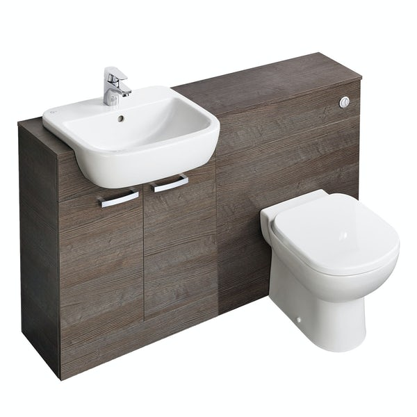 Ideal Standard Tempo sandy grey 1300 combination unit with toilet and seat