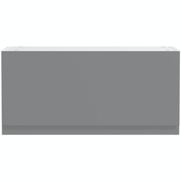 Schon Chicago mid grey slab bridging wall unit