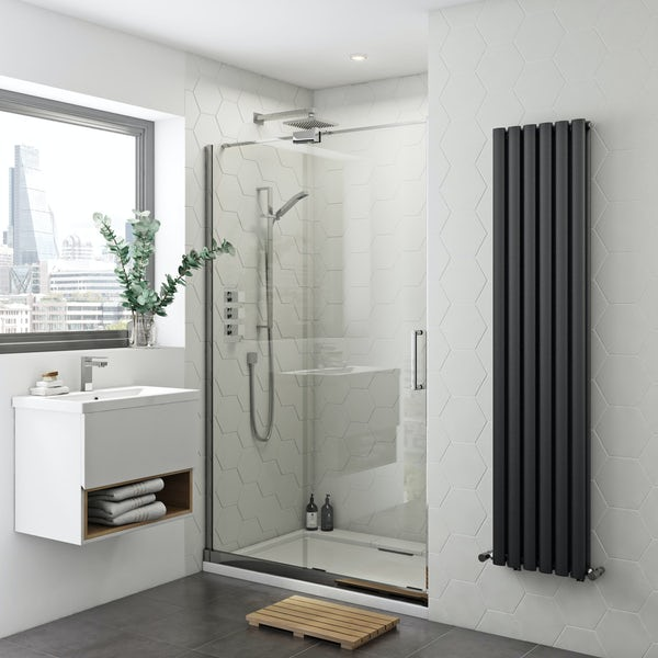 Mode Levien 8mm easy clean left handed sliding shower door