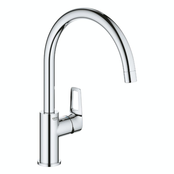 Grohe BauLoop C spout single level kitchen mixer tap