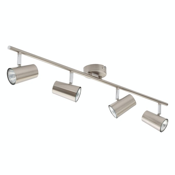 Forum Chara satin nickel 4 light kitchen ceiling light