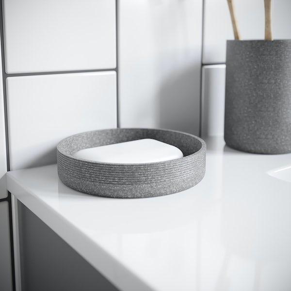 Accents dark grey soap dish
