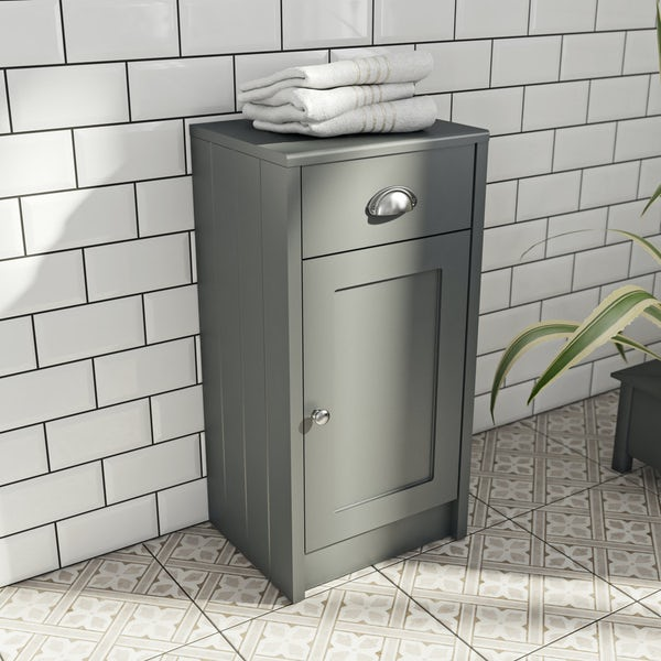 The Bath Co. Dulwich stone grey storage unit