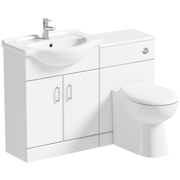 Orchard Eden white 1155mm combination with Clarity back to wall toilet and seat