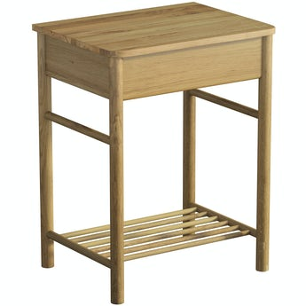 Mode South Bank natural wood washstand and top 600mm