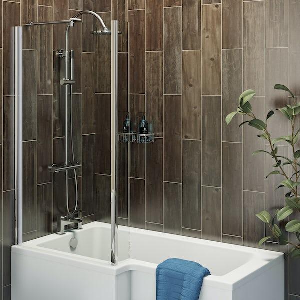 Kielder oak wood effect matt wall and floor tile 150mm x 600mm