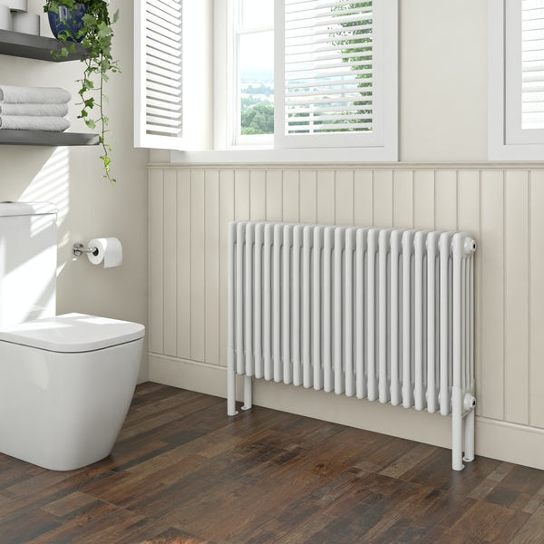 Clarity white 4 column radiator 600 x 1014