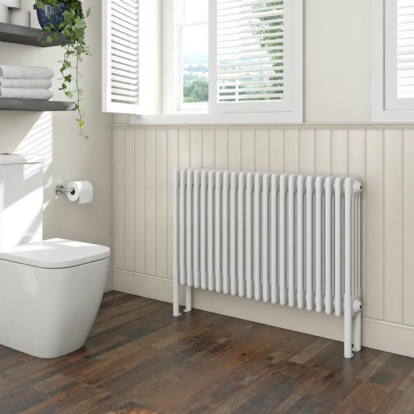 Clarity white 4 column radiator 600 x 1014