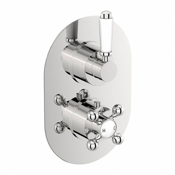 The Bath Co. Dulwich twin thermostatic shower valve with diverter