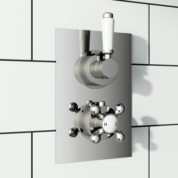 The Bath Co. Winchester twin thermostatic shower valve