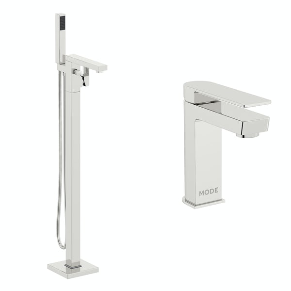 Mode Ellis basin and freestanding bath tap pack