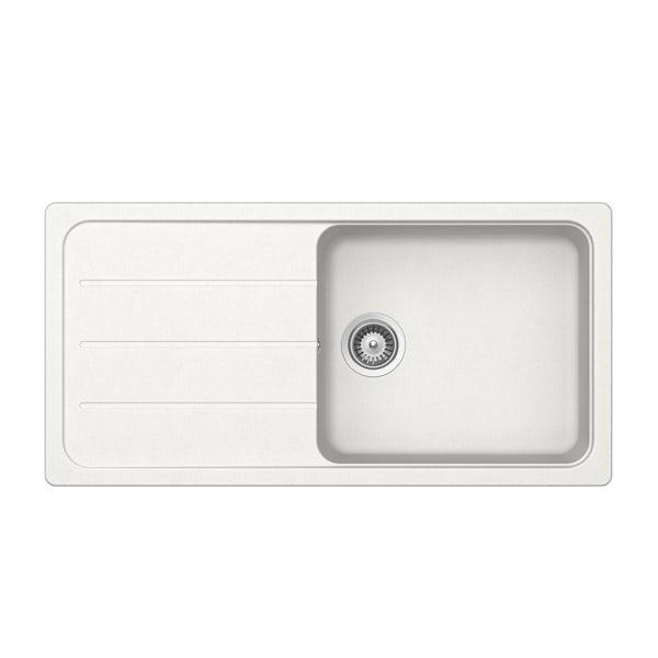 Rangemaster Schock Formhaus 1.0 bowl granite reversible 1000 x 500 alpina white kitchen sink