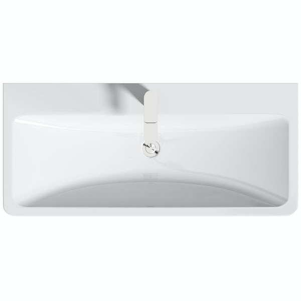 Mode Ahsida white wall hung vanity unit and basin 1000mm