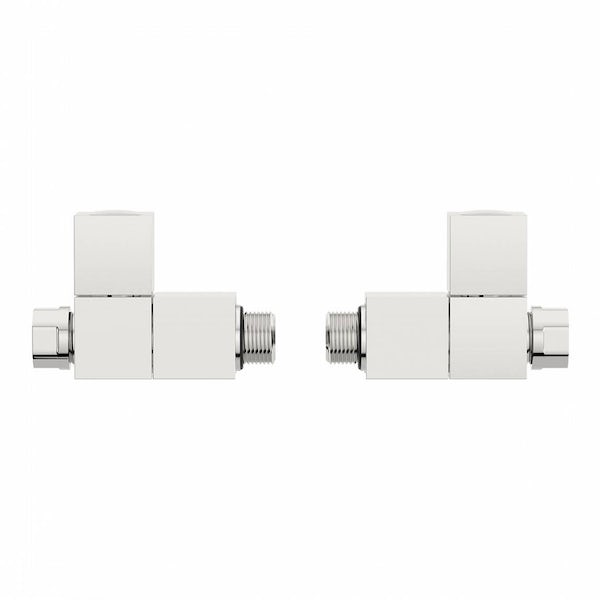 Square Straight Radiator Valves