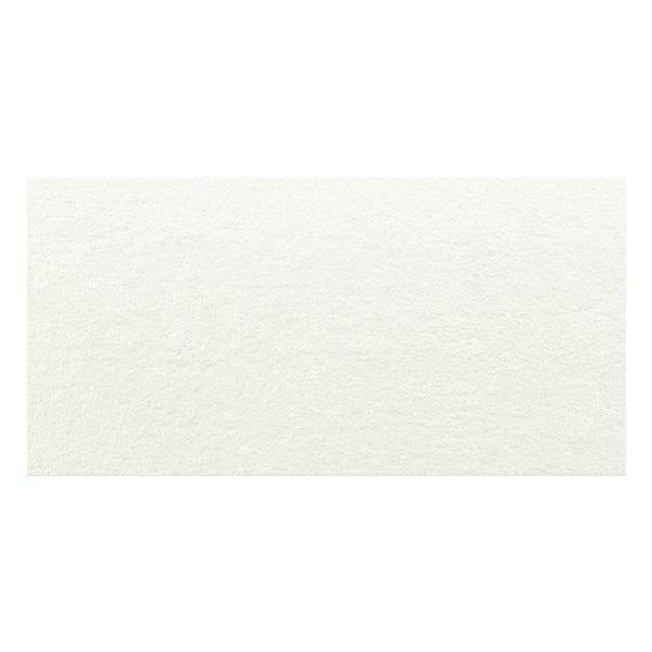 Fontana white flat stone effect matt wall tile 300mm x 600mm