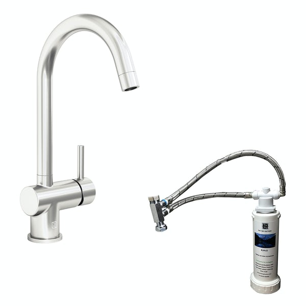 Schön Eigg C spout kitchen tap with complete filter kit