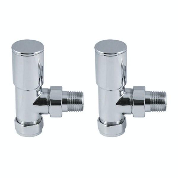 Reina Portland chrome angled radiator valves