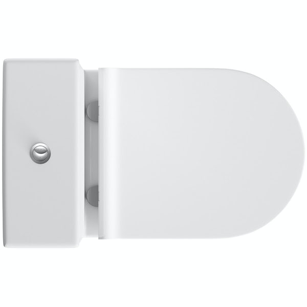 Orchard Wharfe close coupled toilet with soft close slim seat