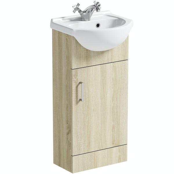 Orchard Eden oak vanity unit and basin 410mm