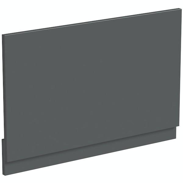 Mode Nouvel gloss grey bath end panel 680mm