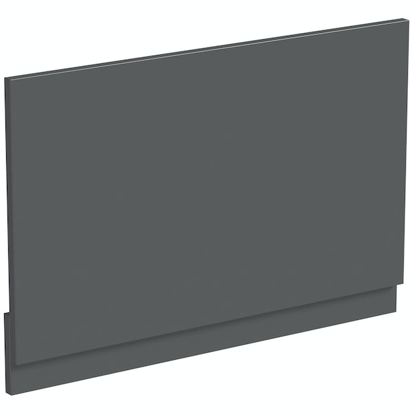 Mode Nouvel gloss grey bath end panel 680mm