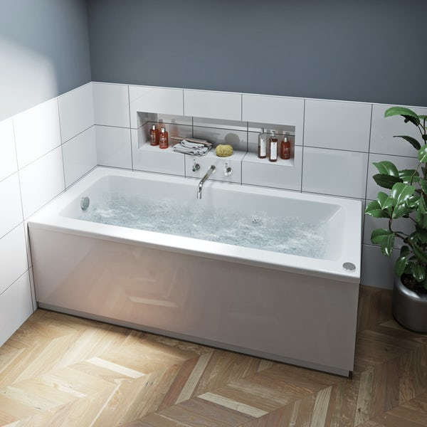 Mode Kensington single ended 12 jet whirlpool bath 1700 x 700