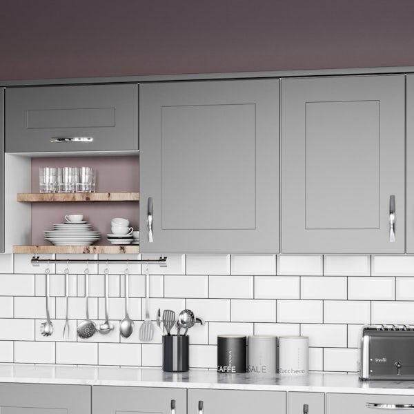 Schon New England light grey shaker wall unit