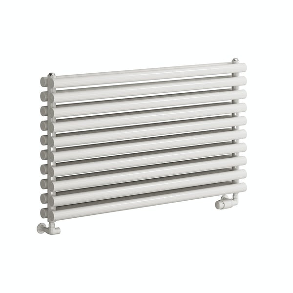 Reina Nevah white double horizontal steel designer radiator