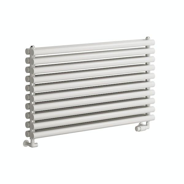Reina Nevah white double horizontal steel designer radiator