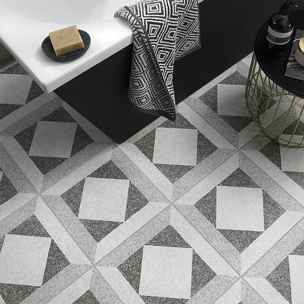 British Ceramic Tile Conglomerate Feature satin floor tile 331mmx331mm