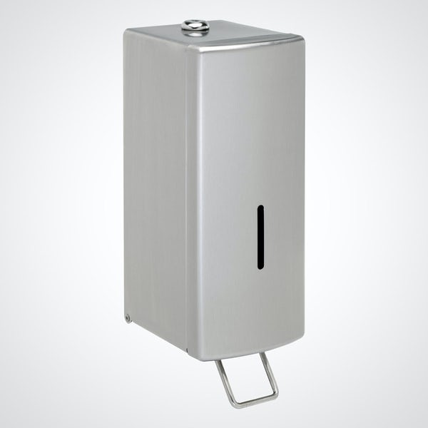 Dolphin commercial surface mounted soap dispenser in satin finish