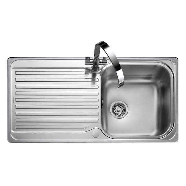 Rangemaster Sedona 1.0 bowl reversible kitchen sink