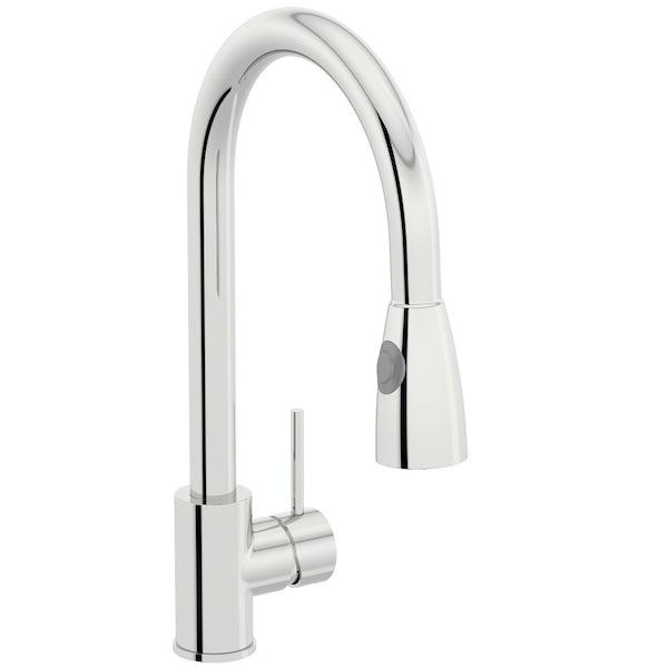 Schön Barra pull down kitchen mixer tap