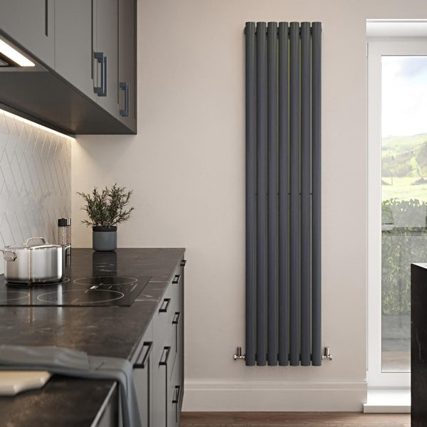 The Tap Factory Vibrance indigo vertical panel radiator