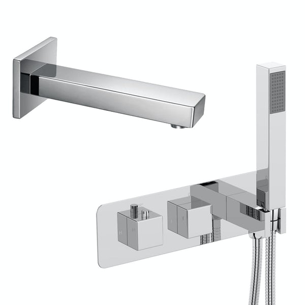 Mode Ellis square concealed thermostatic bath filler set