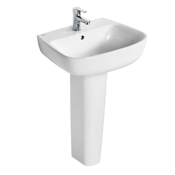 Ideal Standard Studio Echo 1 tap hole full pedestal basin 550mm