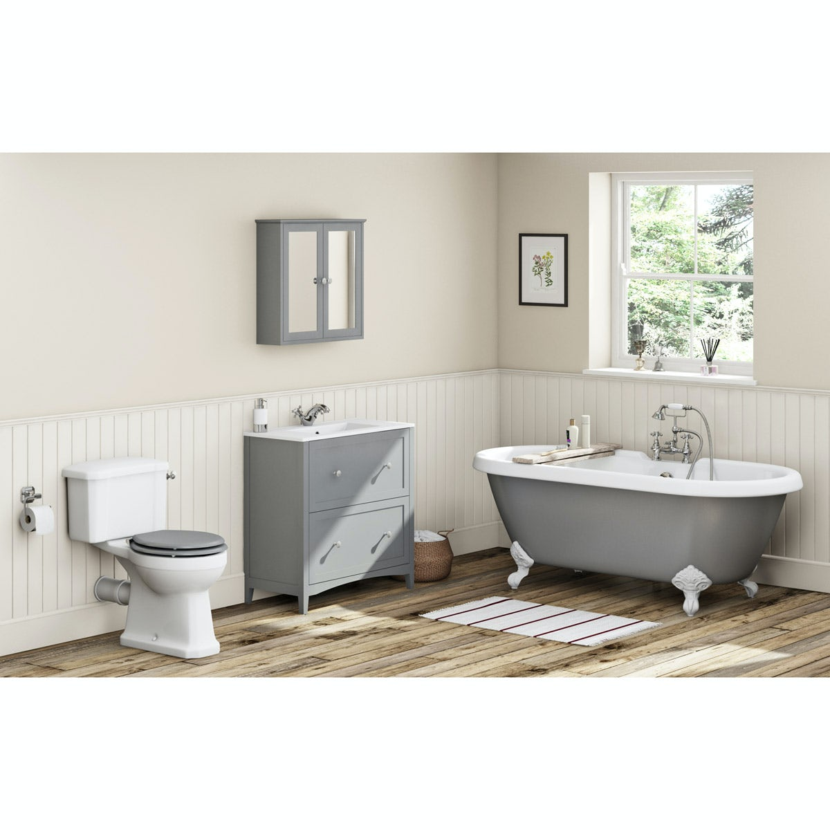 The Bath Co Camberley Grey Furniture Suite With