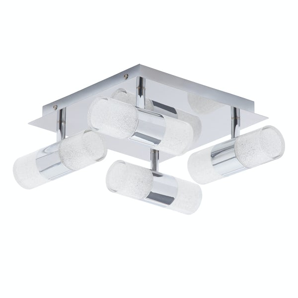 Forum Oriona 8 light flush bathroom ceiling light