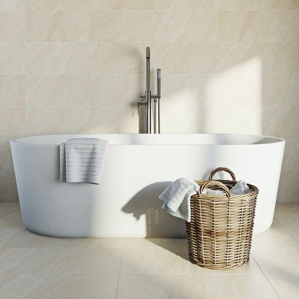 British Ceramic Tile Pumice light beige matt tile 248mm x 498mm