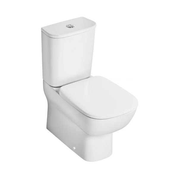 Ideal Standard Studio Echo cloakroom suite with close coupled toilet and full pedestal basin 600mm