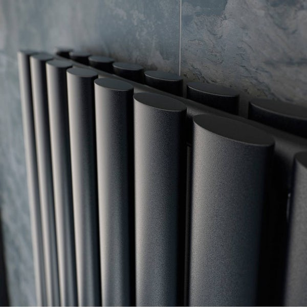 Mode Tate anthracite grey double vertical radiator