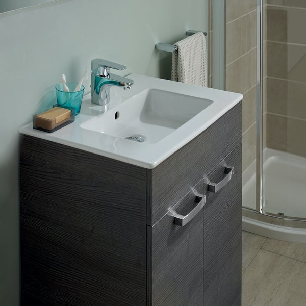 Ideal Standard Tempo sandy grey vanity door unit and basin 500mm