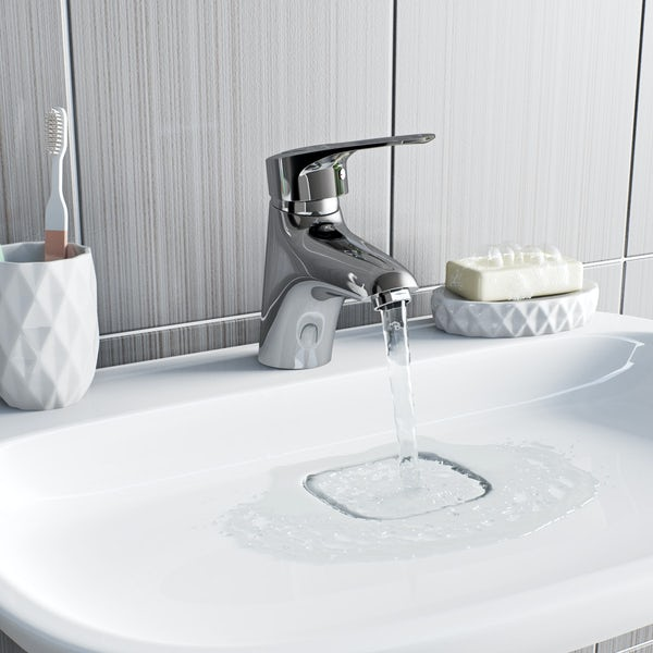 Orchard Dart loop basin mixer tap