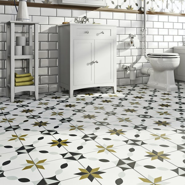 Valencia Fe traditional matt wall and floor tile 200mm x 200mm