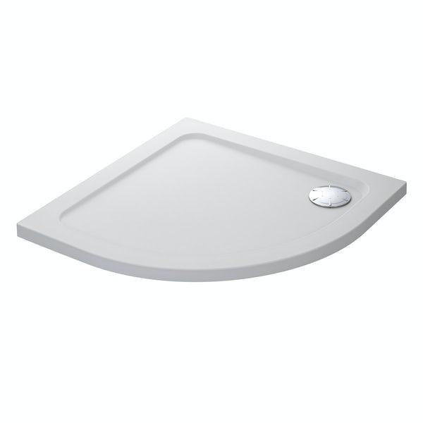 Mira Flight low level quadrant shower tray