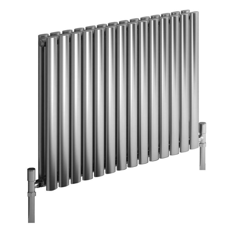 Reina Nerox double brushed stainless steel designer radiator 1800 x 531